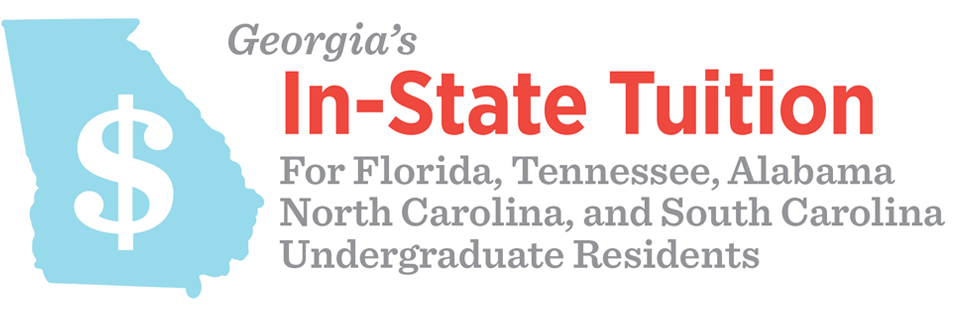 Georgia's In-State Tuition, available for Florida, South Carolina, & Alabama Undergraduate Residents